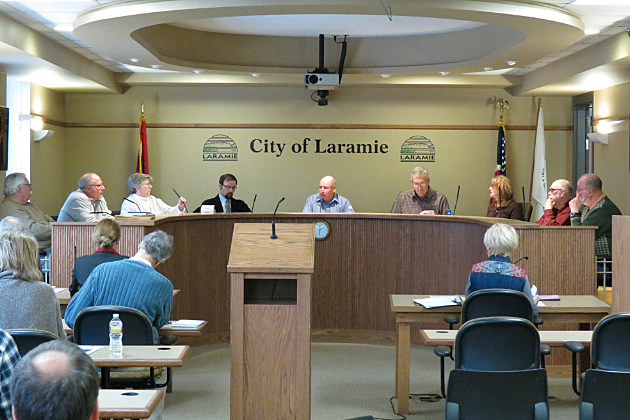 Laramie City Council during a regular session.