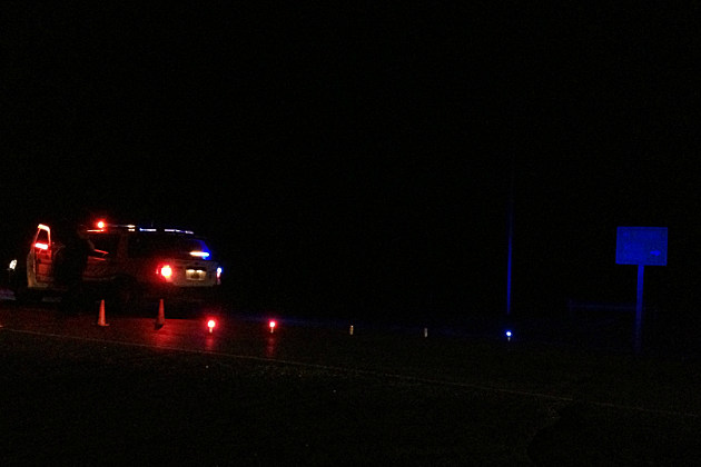Albany County Sheriff's Department was directing traffic Sunday night, near mile post 16 on Wyoming Highway 230, following a fatal auto crash.