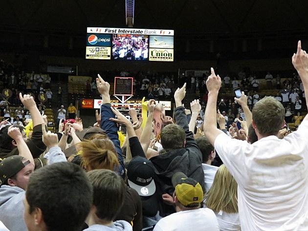 Fans rush floor