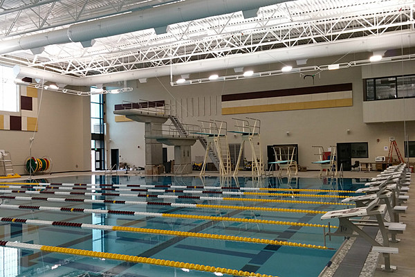 central east high school swimming pool lady plainsmen carry tradition on in new pool