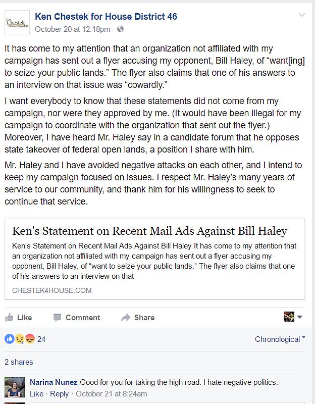 Mailers statement