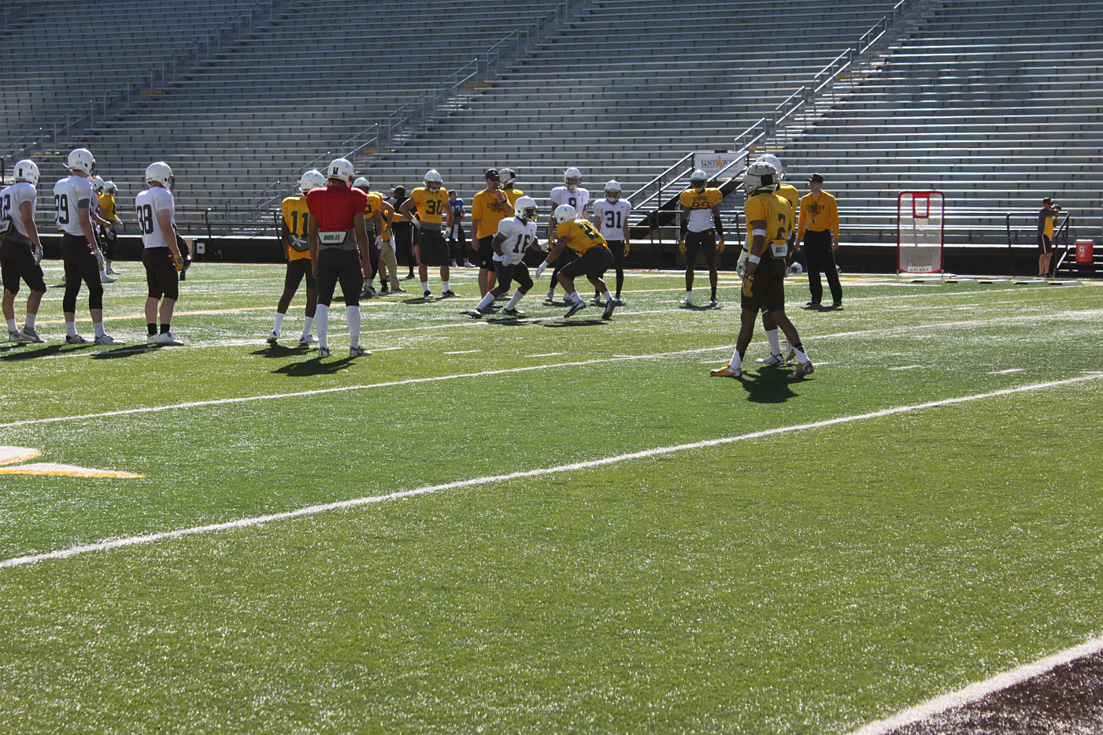 Wyoming Cowboys Spring Football practice