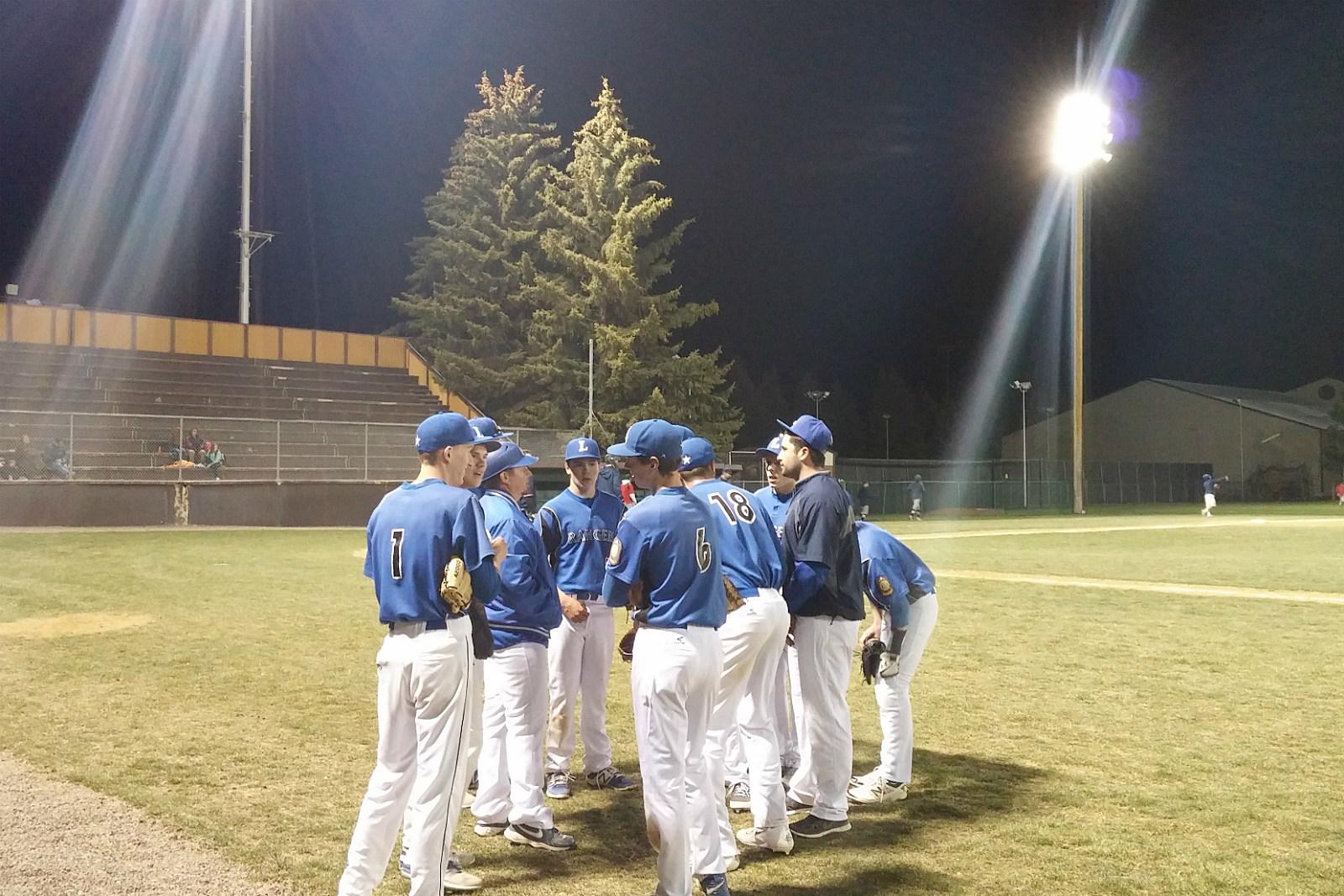 Laramie Rangers, legion baseball, team huddle, 2017