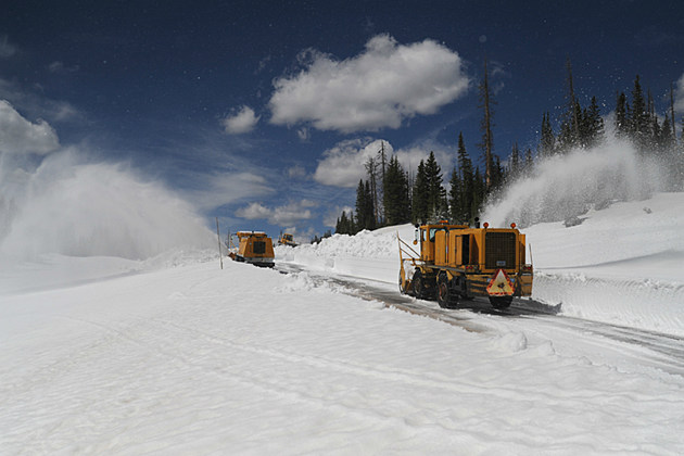 Snow Removal on WY Hwy 130