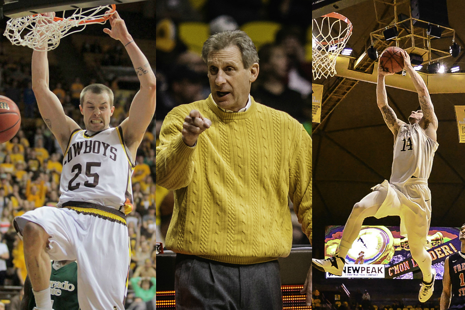 Nate Sobey, Larry Shyatt, Josh Adams, Wyoming Basketball, NBA, Collage, UW