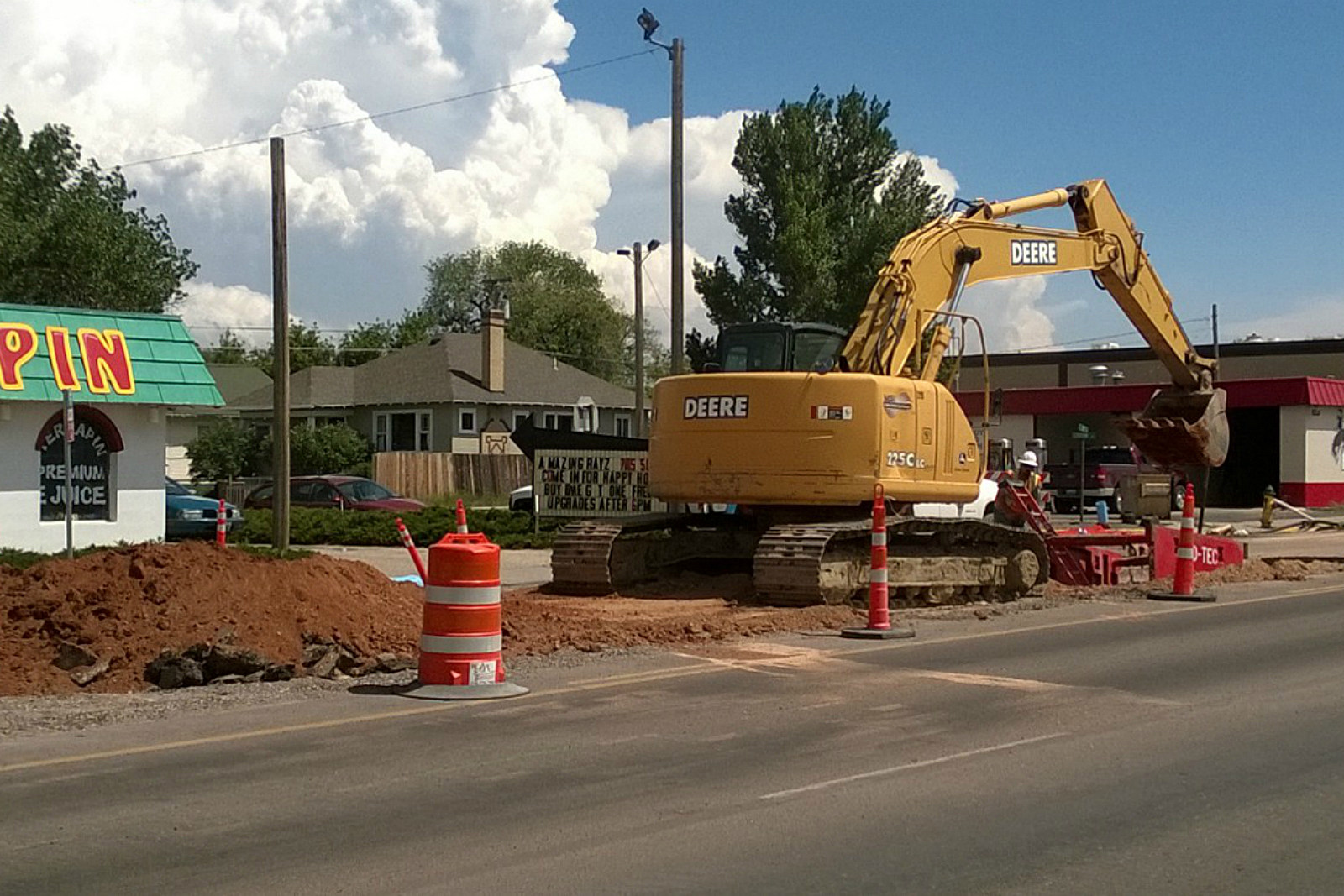 Road Construction, WYDOT, 3rd Street, Laramie, 2017