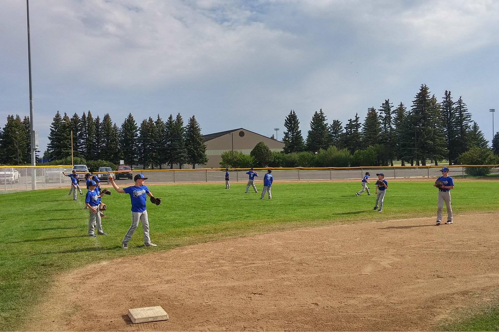 Laramie 9-10 All-Stars, practice, baseball, Little League, 2017