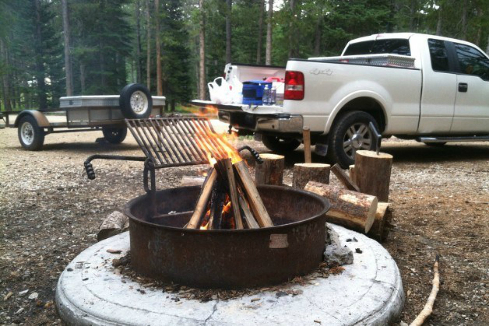 Campfire, camping, camp site