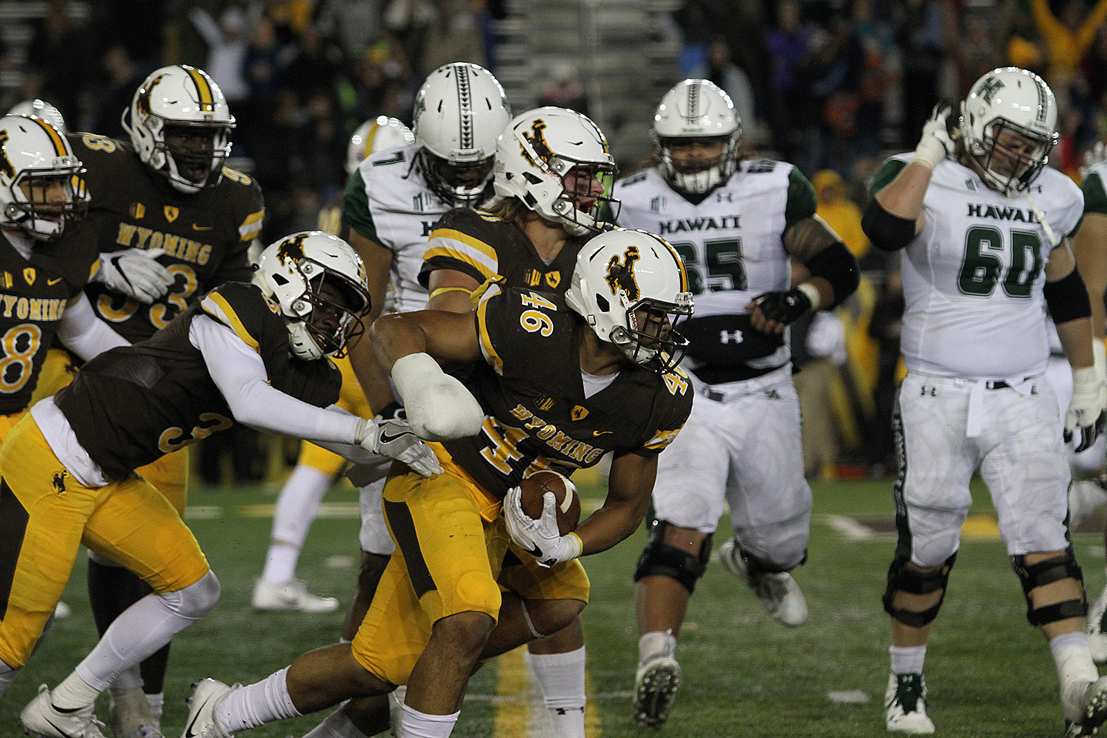 Wyoming Cowboys,Caash Maluia, UW, Wyo, UWYO, Football, Hawaii, 2017