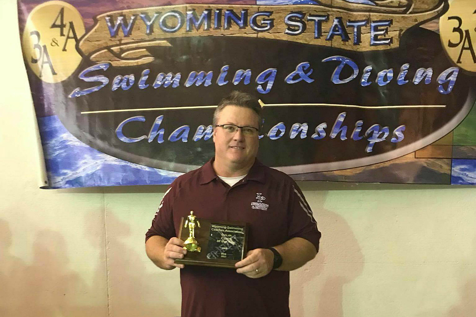 Tom Hudson, Laramie High School, LHS, Laramie Lady Plainsmen, Coach of the Year, 2017